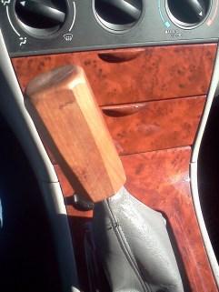 """Handmade Cherry Wood Shift Knob for my '06 Toyota Corolla """"Rambi"""""""