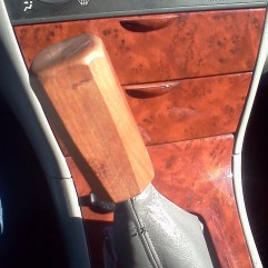 "Handmade Cherry Wood Shift Knob for my '06 Toyota Corolla ""Rambi"""