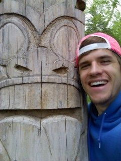 With my first Totem Pole carving (circa 2011)