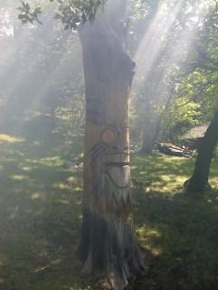Burn pile smoke giving spooky Survivor feel to Totem