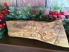 Cedar chunk woodburning for my Mom (Christmas 2015)