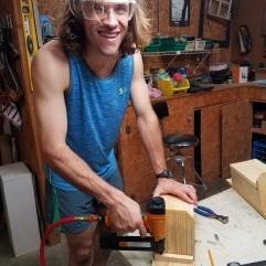 Building bluebird houses with Mike (Fall 2017)