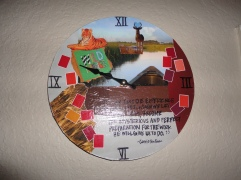Mod Podge clock that Alyssa made for me when we first started dating (2010)