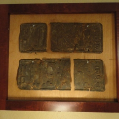 Old ND license plates recovered from a soybean field while working as a farmhand on Uncle Dean's Farm