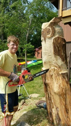 Electric chainsaw and hours of sawdust!