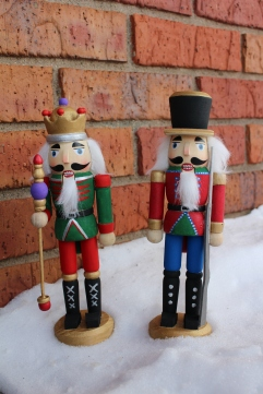 Handpainted Nutcracker's in ND snow (Christmas 2016)