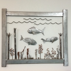 Welded Metal Fish/Ocean scene 2014
